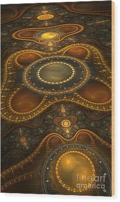Antique Carpet Wood Print by Jaclyn Hughes Fine Art
