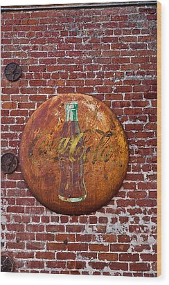 Antique Coke Sign 2 Wood Print