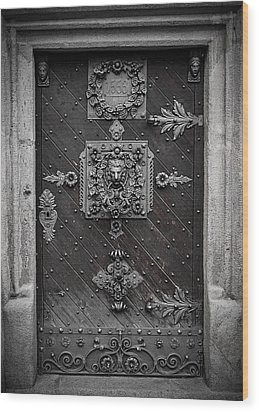 Antique Doors In Budweis Wood Print by Christine Till
