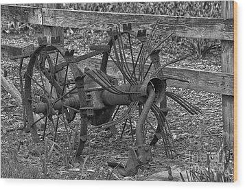 Antique Farm Equipment Wood Print by JRP Photography