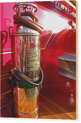 Antique Fire Extinguisher Wood Print