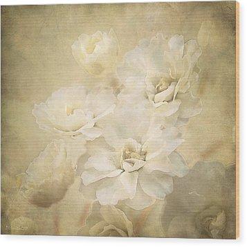 Antique Floral Wood Print by Deborah Smith