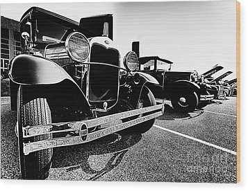 Antique Ford Car At Car Show Wood Print