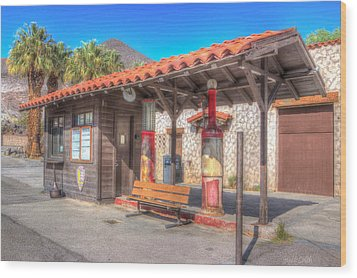 Antique Gas Station Wood Print by Heidi Smith