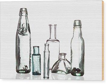 Antique Old Bottles Wood Print by Dirk Ercken