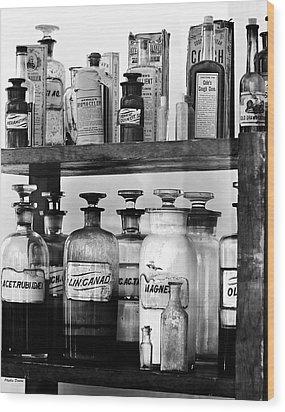 Antique Pharmacy Wood Print by Phyllis Denton