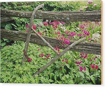 Antique Plow Handles Wood Print by Alan L Graham