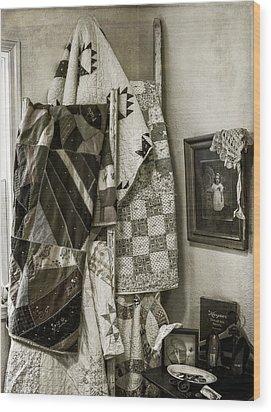 Antique Quilts Wood Print