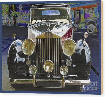Wood Print featuring the digital art Antique Rolls Royce by Victoria Harrington