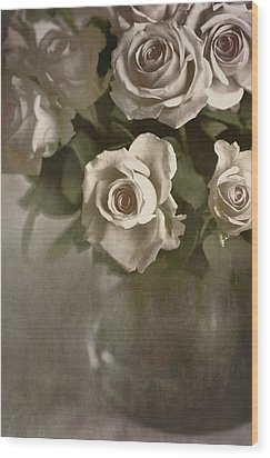 Wood Print featuring the photograph Antique Roses by Annie Snel