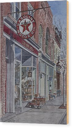 Antique Shop Beacon New York Wood Print by Anthony Butera