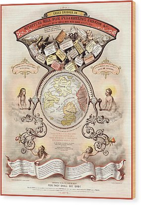 Antique Spiritualism Map Wood Print by Gary Grayson