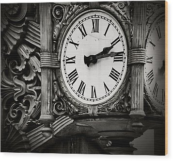 Antique Time Wood Print by April Lee