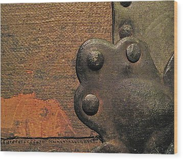 Antique Trunk 13 Wood Print by Mary Bedy