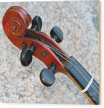Antique Violin Wood Print