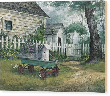 Antique Wagon Wood Print by Michael Humphries