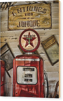 Antiques And Junque Wood Print by Heather Applegate