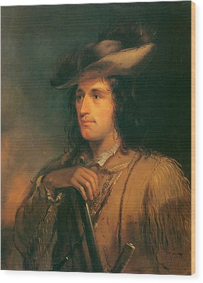 Antoine Clement The Great Hunter Wood Print by Alfred Jacob Miller