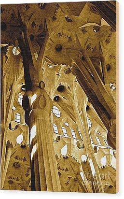 Antoni Gaudi Rythmes   Wood Print