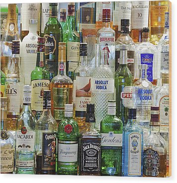 Anyone For A Drink Wood Print by Maj Seda