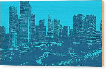 Anywhere Usa In Relief Wood Print by Bob and Nadine Johnston