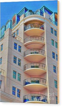 Apartment Building Wood Print by Kathleen Struckle