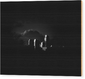 Apartment Buildings At Sunset From The Pape St Bridge Wood Print by Brian Carson