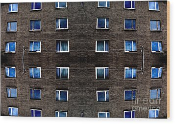 Apartments In Berlin Wood Print by Andy Prendy