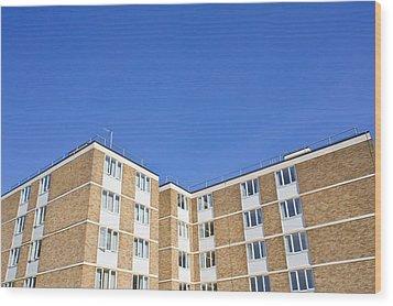 Apartments Wood Print by Tom Gowanlock