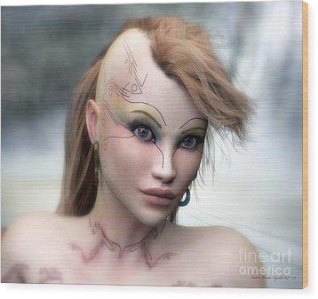 Wood Print featuring the digital art Aphrodite by Sandra Bauser Digital Art