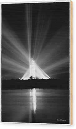 Apollo 11 In The Spotlight Wood Print by Travis Burgess