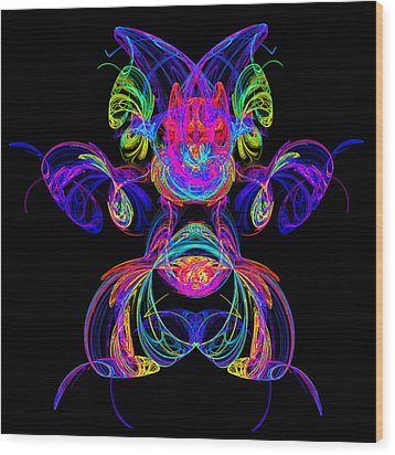 Apophysis Puppy Wood Print by Pat Follett