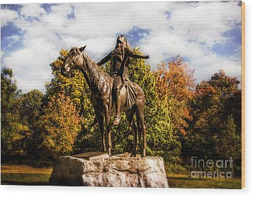 Appeal To The Great Spirit Wood Print by Tamyra Ayles