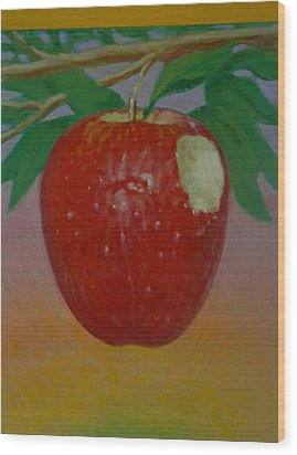 Apple 3 In A Series Of 3 Wood Print by Don Young