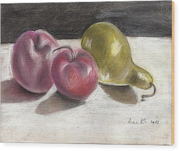 Apple And Pear Wood Print
