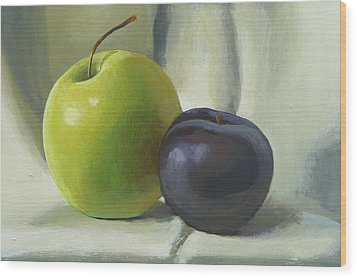 Apple And Plum Wood Print by Peter Orrock
