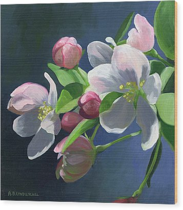 Wood Print featuring the painting Apple Blossom by Alecia Underhill