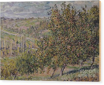 Apple Blossom Wood Print by Claude Monet