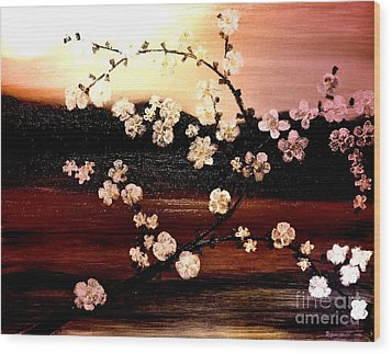 Apple Blossom Time Wood Print by Denise Tomasura