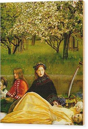 Apple Blossoms Wood Print by John Everette Millais