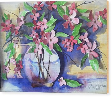 Apple Blossoms Wood Print by Sherry Harradence