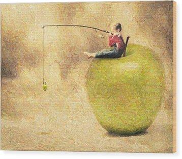 Apple Dream Wood Print by Taylan Apukovska