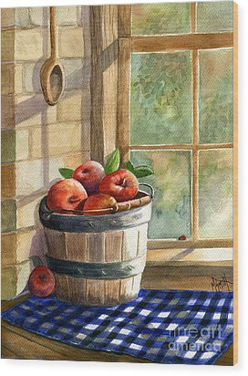 Apple Harvest Wood Print by Marilyn Smith