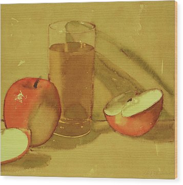Apple Juice Wood Print