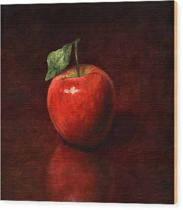 Apple Wood Print by Mark Zelmer
