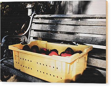 Wood Print featuring the photograph Apple Picking by Meaghan Troup