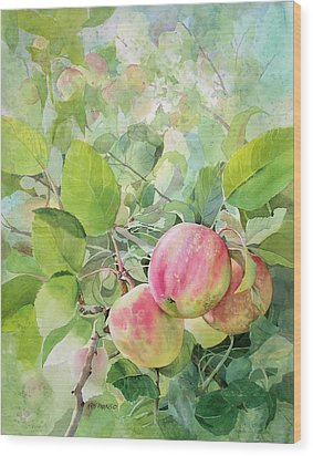 Apple Pie Wood Print by Kris Parins