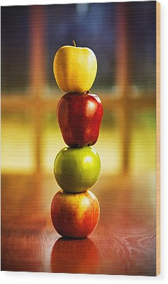 Apple Stack Wood Print