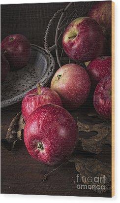 Apple Still Life Wood Print by Edward Fielding
