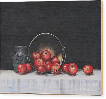 Apple Still Life Wood Print by Rita Miller